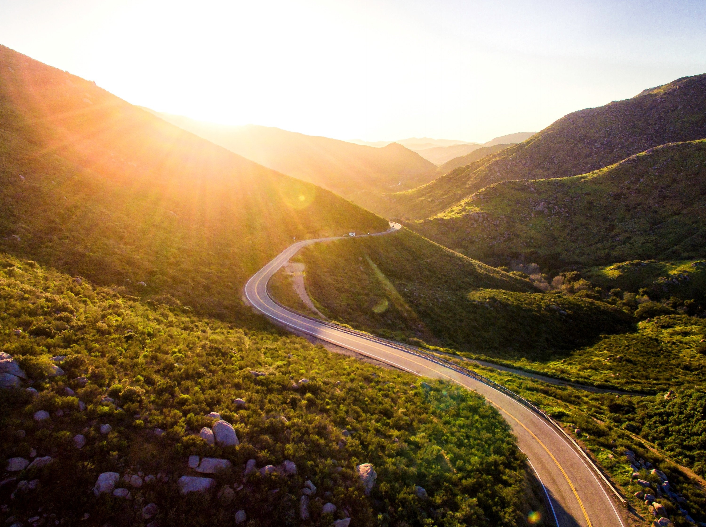 mountain road with sun-693493-edited