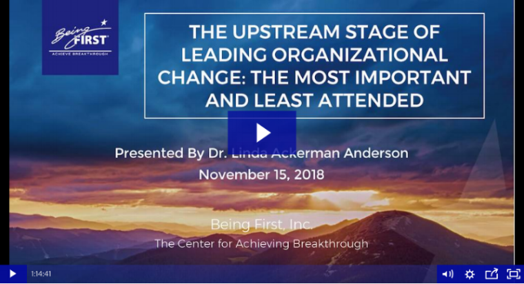 Watch the change leadership webinar on launching organizational change.